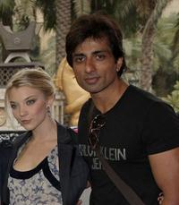 Natalie Dormer and Sonu Sood at the photocall of