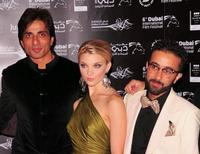 Yassin Alsalman, Natalie Dormer and Sonu Sood at the premiere of
