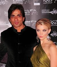 Natalie Dormer and Sonu Sood at the premiere of
