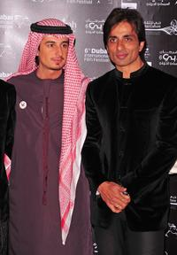 Ali Mostafa and Sonu Sood at the premiere of