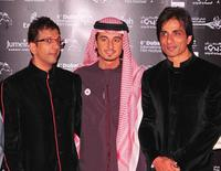Javed Jaffrey , Ali Mostafa and Sonu Sood at the premiere of