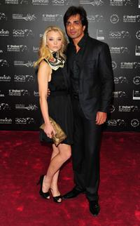 Natalie Dormer and Sonu Sood at the 6th Annual Dubai International Film Festival.