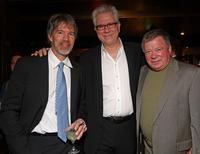 Producer David E. Kelley, John Larroquette and William Shatner at the