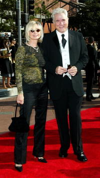 John Larroquette and his wife Elizabeth at the 2002 Creative Arts Emmy Awards.