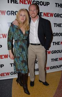 Katie Finneran and Darren Goldstein at the opening night party of
