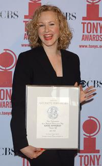 Katie Finneran at the 2002 Tony Award nominees brunch.