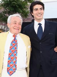 Jack Larson and Brandon Routh at the premiere of