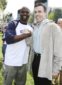 Terry Crews and Bill Romanowski at the premiere of