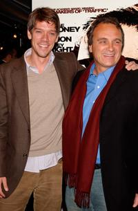 Director Stephen Gaghan and Robert Baer at the premiere of