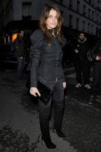 Joana Preiss at the Givenchy Ready-to-Wear A/W 2009 fashion show during the Paris Fashion Week.