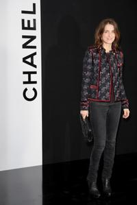 Joana Preiss at the Chanel Ready-to-Wear A/W 2009 fashion show during the Paris Fashion Week.