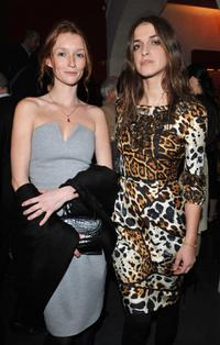 Audrey Marnay and Joana Preiss at the opening of new YSL store.