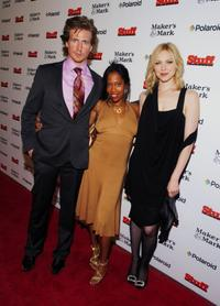 Josh Meyers, Regina King and Laura Prepon at the Stuff Magazine Party during the events for the 133rd Kentucky Derby.