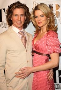 Josh Meyers and Missi Pyle at the JHRTS Young Hollywood Holiday Party.