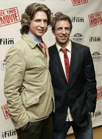 Josh Meyers and Seth Meyers at the premiere of