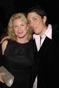 Louise Lasser and Carolyn Strauss at the HBO Emmy party.