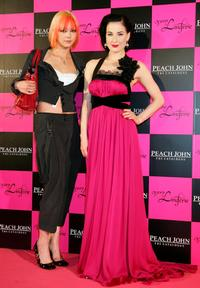 Anna Tsuchiya and Dita Von Teese at the Peach John Very Lingerie Premium party.