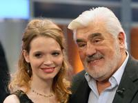 Mario Adorf and Karoline Herfurth at the 173rd edition of the German TV show 'Wetten, dass..?' (Let's Make a Bet).