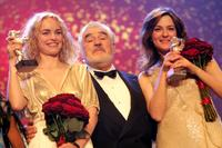 Mario Adorf, Martina Gedeck and Nina Hoss at the Golden Bear Award Ceremony of the 57th Berlin International Film Festival.