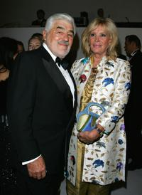 Mario Adorf and Monique Faye Adorf at the annual German media ball 'Bundespresseball'.