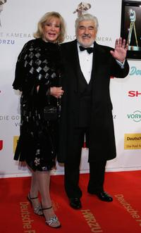 Mario Adorf and Monique Adorf at the Goldene Kamera Award.