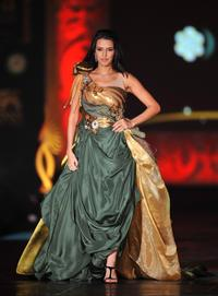 Neha Dhupia at the Fashion Extravaganza event during the 2009 International Indian Film Academy Awards.