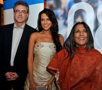 Piers Handling, Neha Dhupia and Deepa Mehta at the Bell Lightbox Campaign's