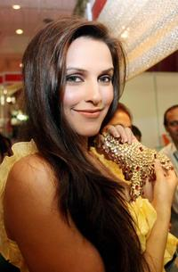 Neha Dhupia at the inauguration of the Festival of Gold exhibition.