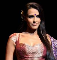 Neha Dhupia at the inaugural show of HDIL India Couture Week.