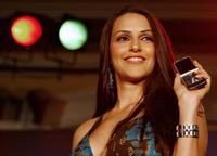 Neha Dhupia at the launch of internet radio feature through cellular telephones.