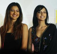 Gauhar Khan and Neha Dhupia at the launch of