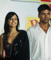 Neha Dhupia and Akshay Kumar at the launch of