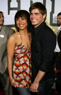 Cheryl Burke and Matthew Lawrence at the premiere of