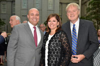 Michael Powell, Maria Bartiromo and Chris Matthews at the NCTA Reception hosted by A+E Networks.