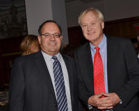 Allan Domb and Chris Matthews at the Philadelphia Style Magazine Cover Event.