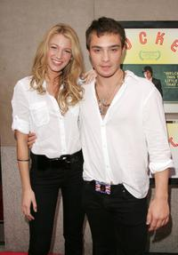 Blake Lively and Ed Westwick at the premiere of