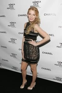 Blake Lively at the Chanel Dinner during the 2008 Tribeca Film Festival.