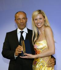 Heiner Lauterbach and Michelle Hunziker at the Hamburgs Chamber of Commerce.