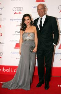 Heiner Lauterbach and his wife Viktoria at the German film ball.