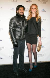Andrew Levitas and Anna V. at the grand opening cocktail party for the new Victoria Secret Lexington Avenue Flagship Store.