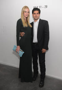 Model Anne Vyalitsyna and Andrew Levitas at the