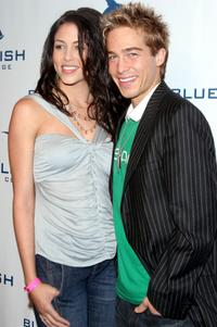 Kimberly Burke and Ryan Carnes at the launch party of