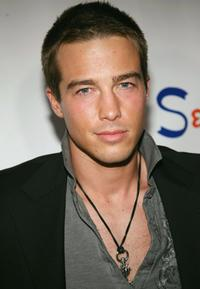 Ryan Carnes at the Monarchy Collection Fashion show.