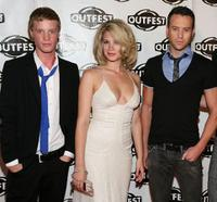 Daniel Skelton, Rebekah Kochan and Michael Walker at the 2009 Outfest opening night gala of