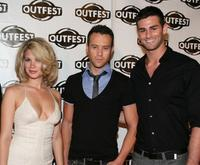 Rebekah Kochan, Michael Walker and Chris Salvatore at the 2009 Outfest opening night gala of