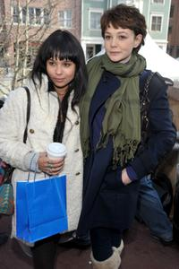 Zoe Kravitz and Carey Mulligan at the 2009 Sundance Film Festival.