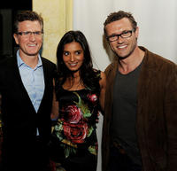 Fox Entertainment President Kevin Reilly, Shelley Conn and Jason O'Mara at the Fox TV's TCA All-Star party in California.