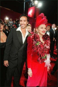 Carlos Leon and Madonna at the Shrine Auditorium in Los Angeles.