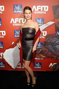 Kristina Klebe at the Afro Samurai Video Game Launch.