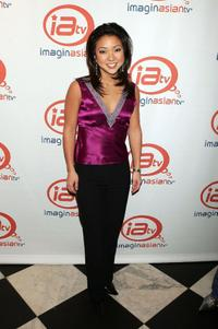 Sandra Endo at the launch of ImaginAsian TV at Eugene.